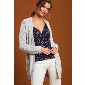 New Listicle Popcorn Cardigan Sweater Stone
